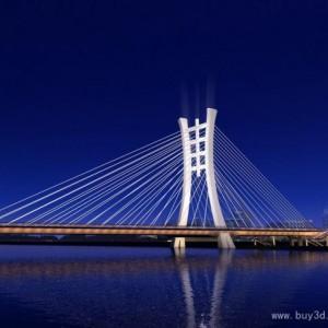 桥梁道路 3dsmax模型