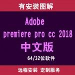 premiere pro cc 2018后期剪辑软件远程安装服务